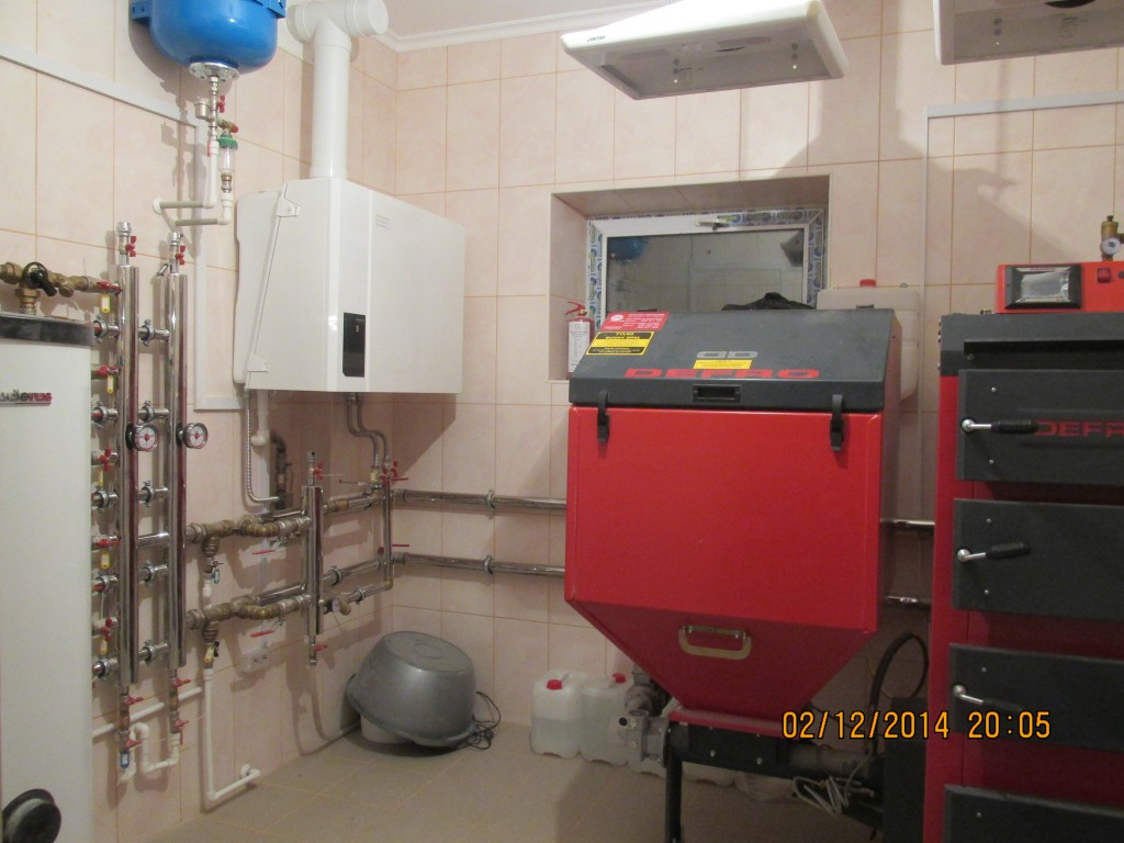 Топочная коттеджного дома. Котел Defro Duo Uni 50кВт. Газовый котел Buderus Logamax plus GB112-60